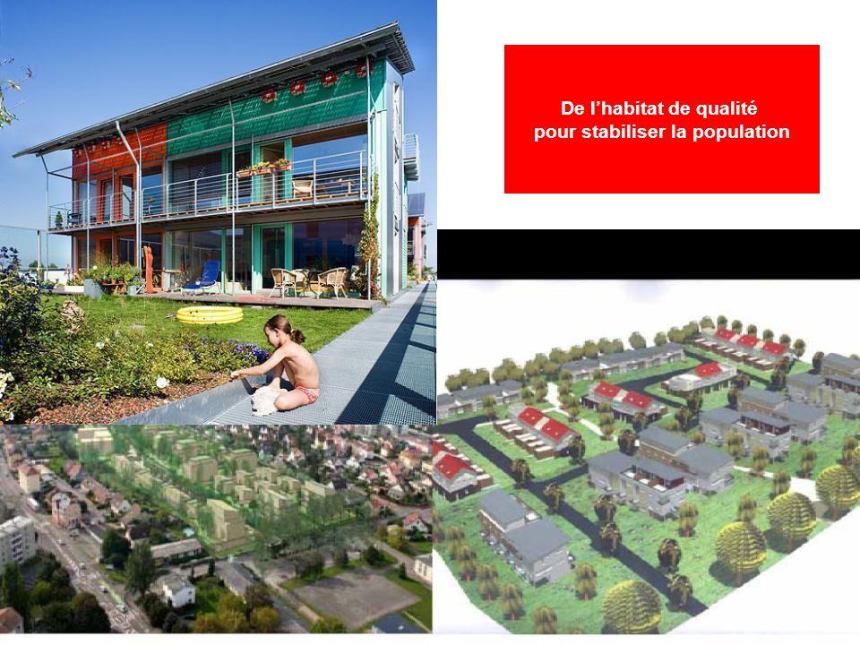 Fribourg « Sonnenschiff » Bourtzwiller De l'habitat de qualité pour stabiliser la population