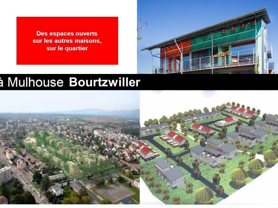 Fribourg « Sonnenschiff » Bourtzwiller Des espaces ouverts sur les autres maisons, sur le quartier