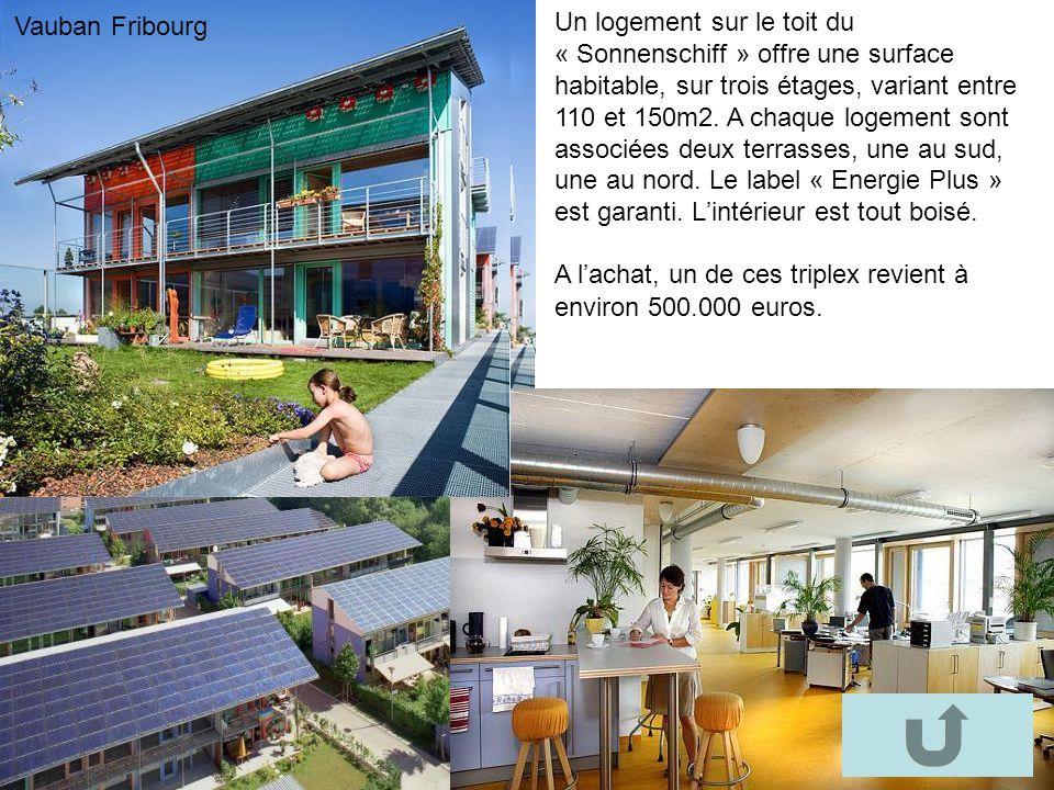Bourtzwiller Un logement sur le toit du « Sonnenschiff » offre une surface habitable, sur trois étages, variant entre 110 et 150m2. A chaque logement