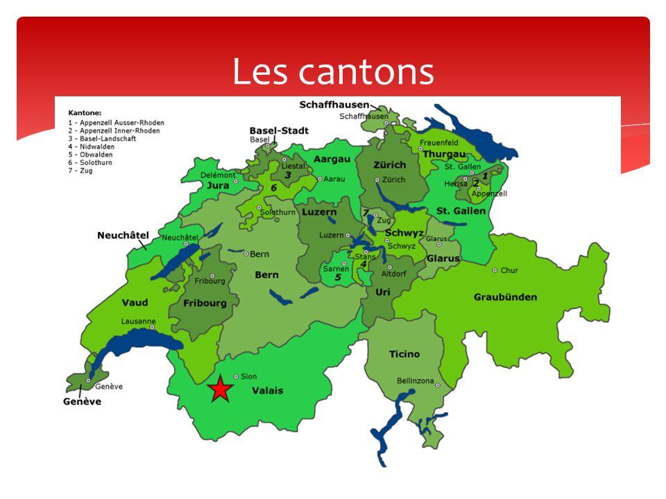 4 langues nationales:  Allemand (63,7 %)  Français (20,4 %)  Italien (6,5 %)  Romanche (- de 0,5%) Langues