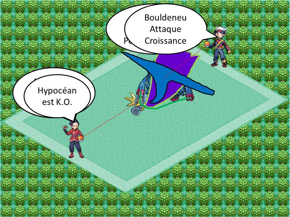 Bouldeneu Attaque Pouvoir Antique Hypocéan Attaque Dracosouffle Bouldeneu Attaque Croissance Hypocéan Attaque Saumure Hypocéan est K.O.