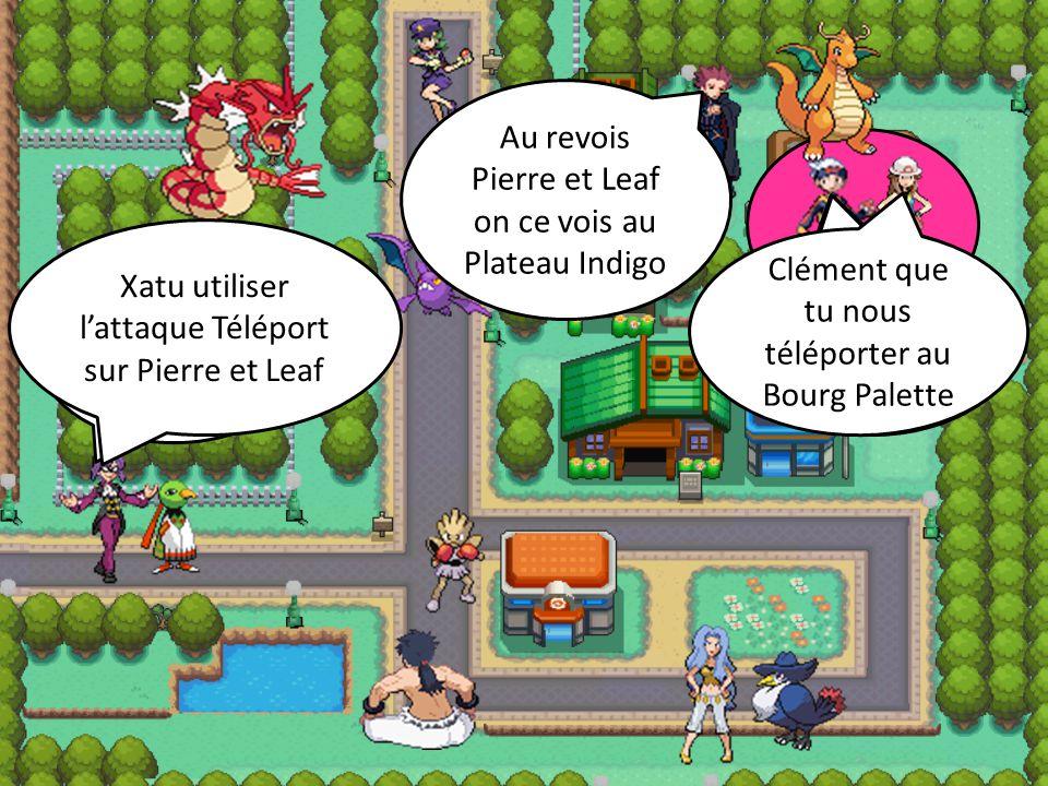 où son t'il partie ? Dans une des prison de Kanto La team Rocker a enfin disparu Clément que tu nous téléporter au Bourg Palette Bien sûr Leaf Xatu ut