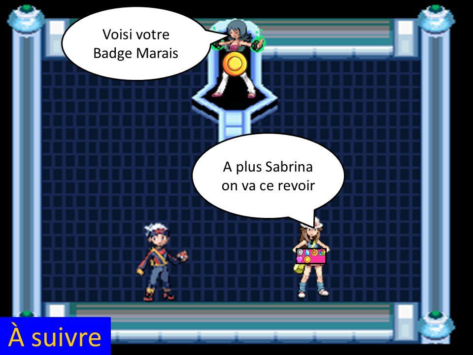 À suivre A plus Sabrina on va ce revoir Voisi votre Badge Marais