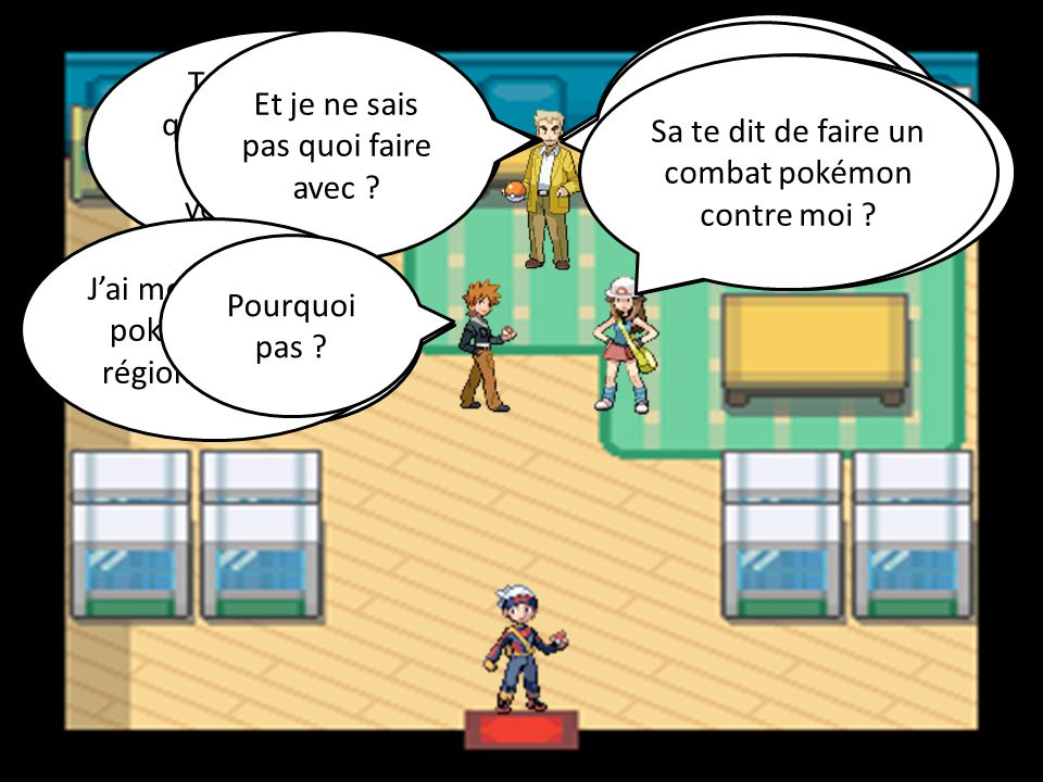 Goupix Attaque Flammèche Mystherbe Attaque Vol-Vie Goupix Attaque Vive-Attaque Mystherbe Attaque Doux Parfum Mystherbe est K.O.