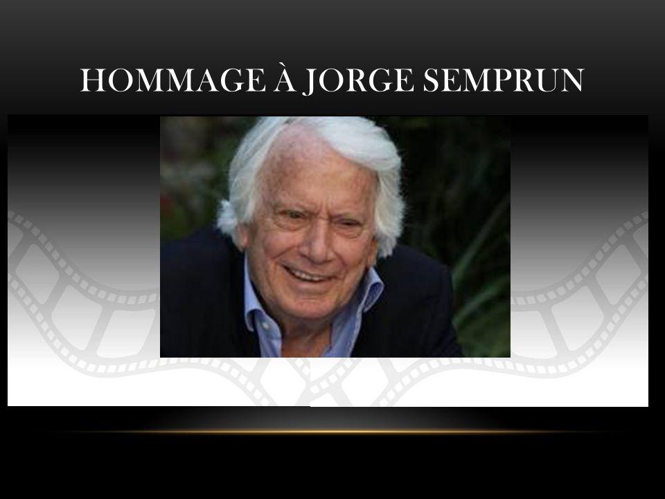 HOMMAGE À JORGE SEMPRUN