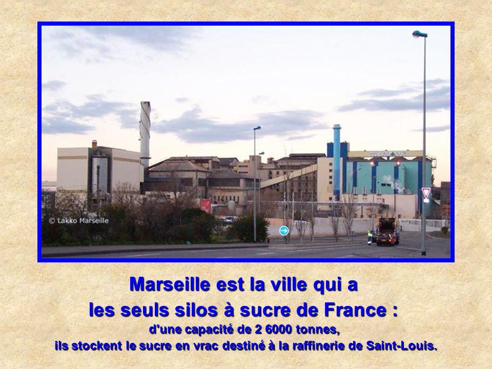 Marseille est la ville qui a le plus gros porte - conteneurs français : long de 349 m, le Fidelio appartient à la CMA-CGM, basée à Marseille, où le na