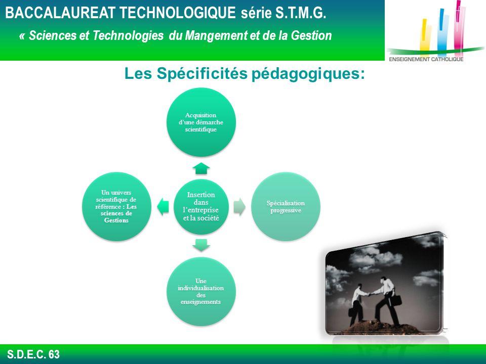 S.D.E.C.63 BACCALAUREAT TECHNOLOGIQUE série S.T.M.G.