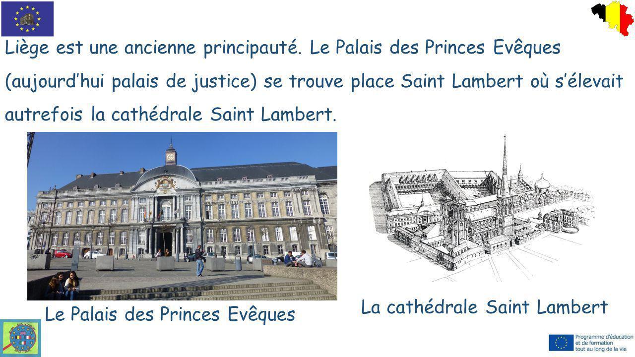 Liège est une ancienne principauté. Le Palais des Princes Evêques (aujourd'hui palais de justice) se trouve place Saint Lambert où s'élevait autrefois