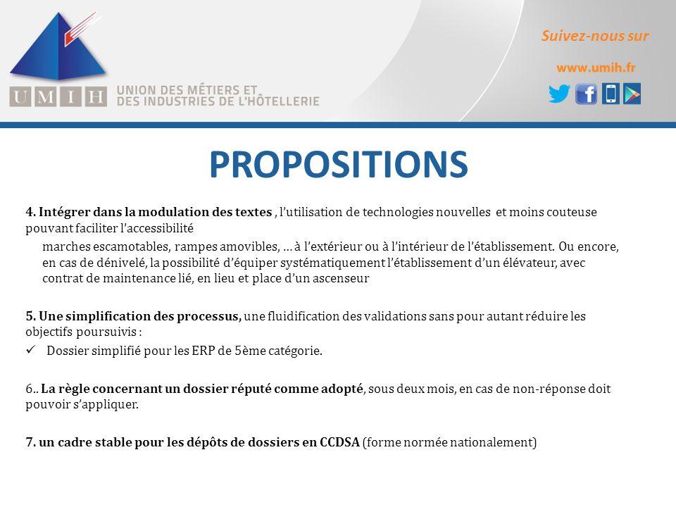 Suivez-nous sur PROPOSITIONS 4. Intégrer dans la modulation des textes, l'utilisation de technologies nouvelles et moins couteuse pouvant faciliter l'