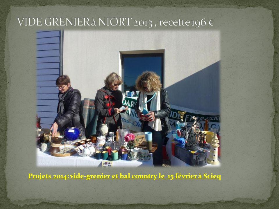 Projets 2014: vide-grenier et bal country le 15 février à Scieq