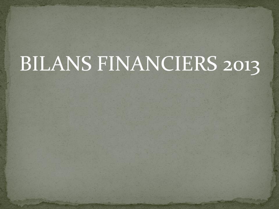 BILANS FINANCIERS 2013