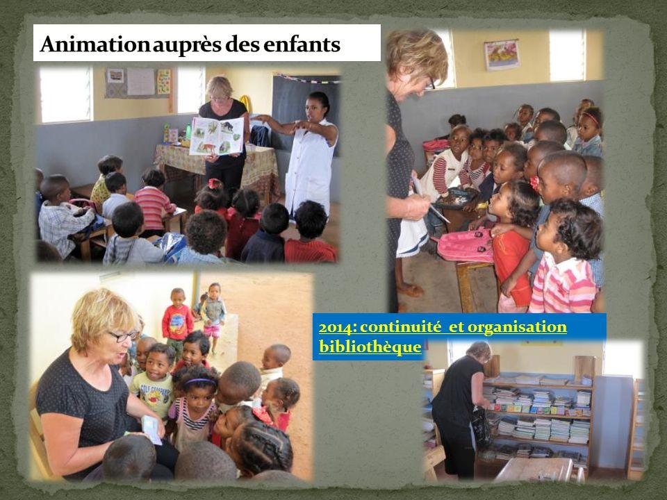 2014: continuité et organisation bibliothèque