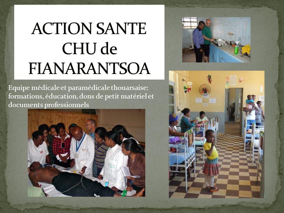 Equipe médicale et paramédicale thouarsaise: formations, éducation, dons de petit matériel et documents professionnels