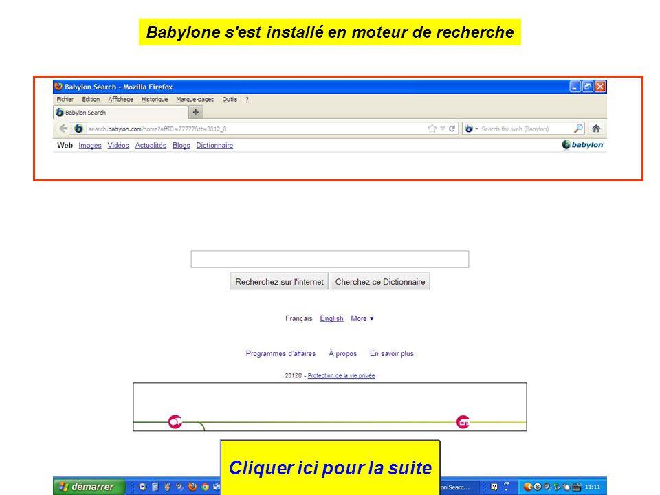 Babylone s est installé en moteur de recherche Cliquer ici pour la suite