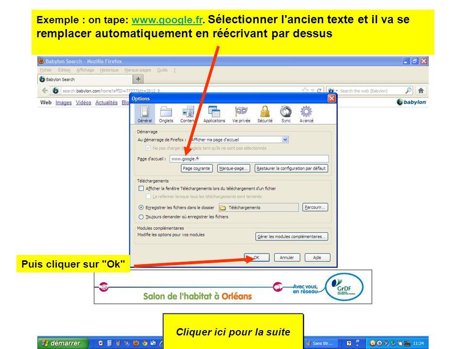 3 – cliquer sur l option Général Cliquer ici pour la suite 4- Remplacer l adresse URL de Babylone par celle de Google (ou autre) Dans le champ Page d accueil .