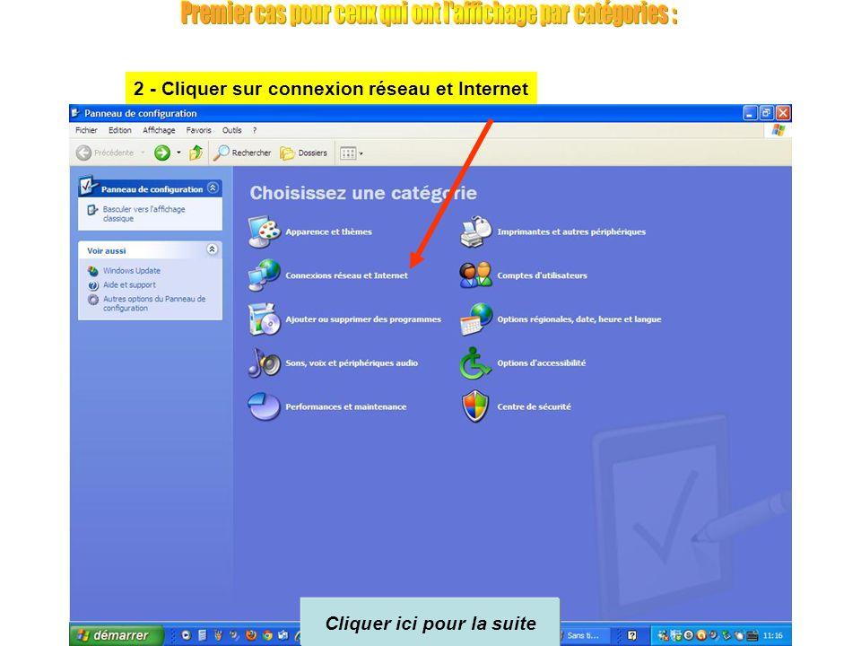 Suivant votre version de Windows, et que vous soyez en affichage par catégories ou affichage classique en icônes, la présentation diffèrera mais le pr