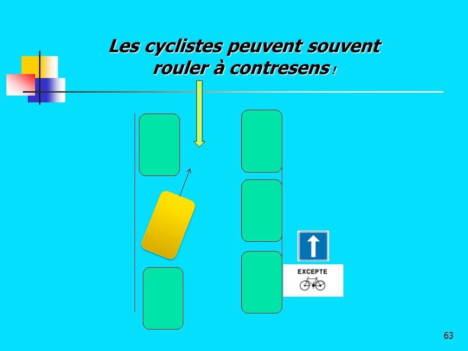 Les cyclistes peuvent souvent rouler à contresens ! 63