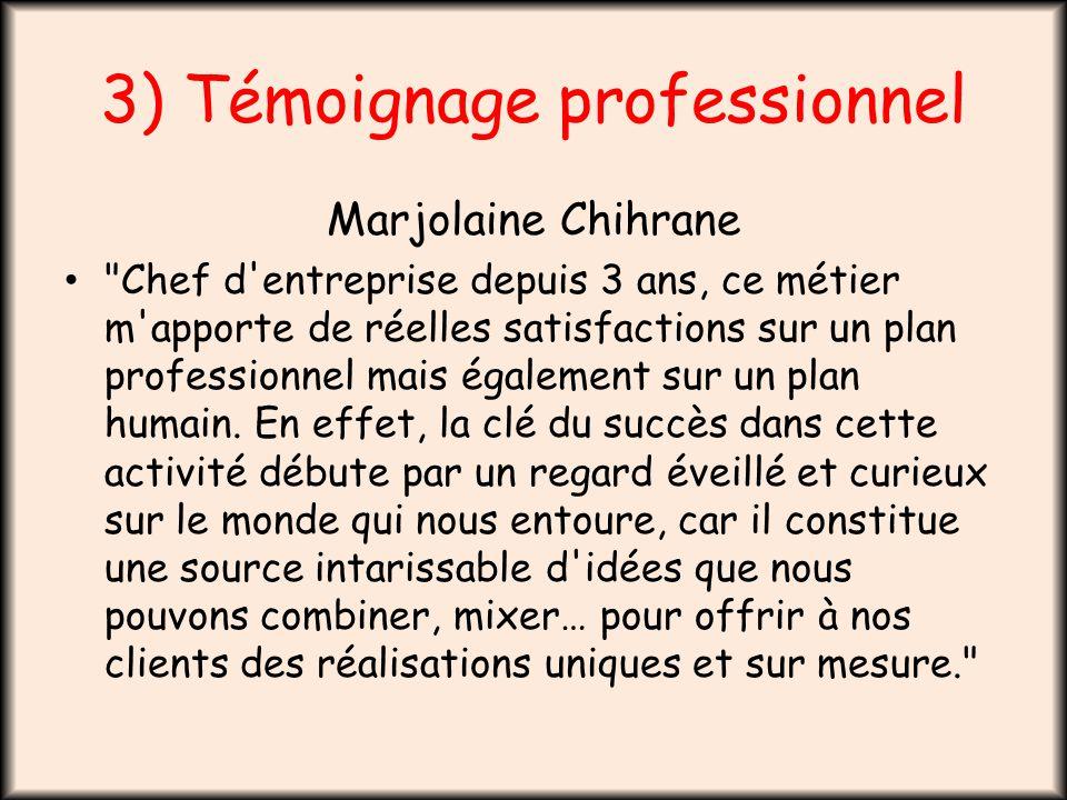 3) Témoignage professionnel Marjolaine Chihrane