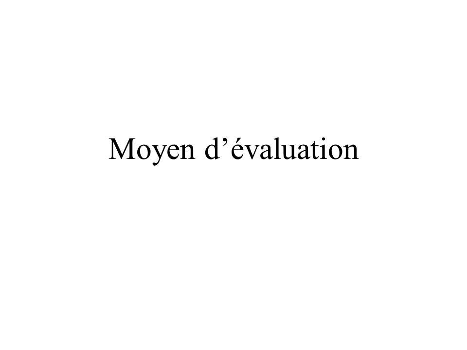 Moyen d'évaluation