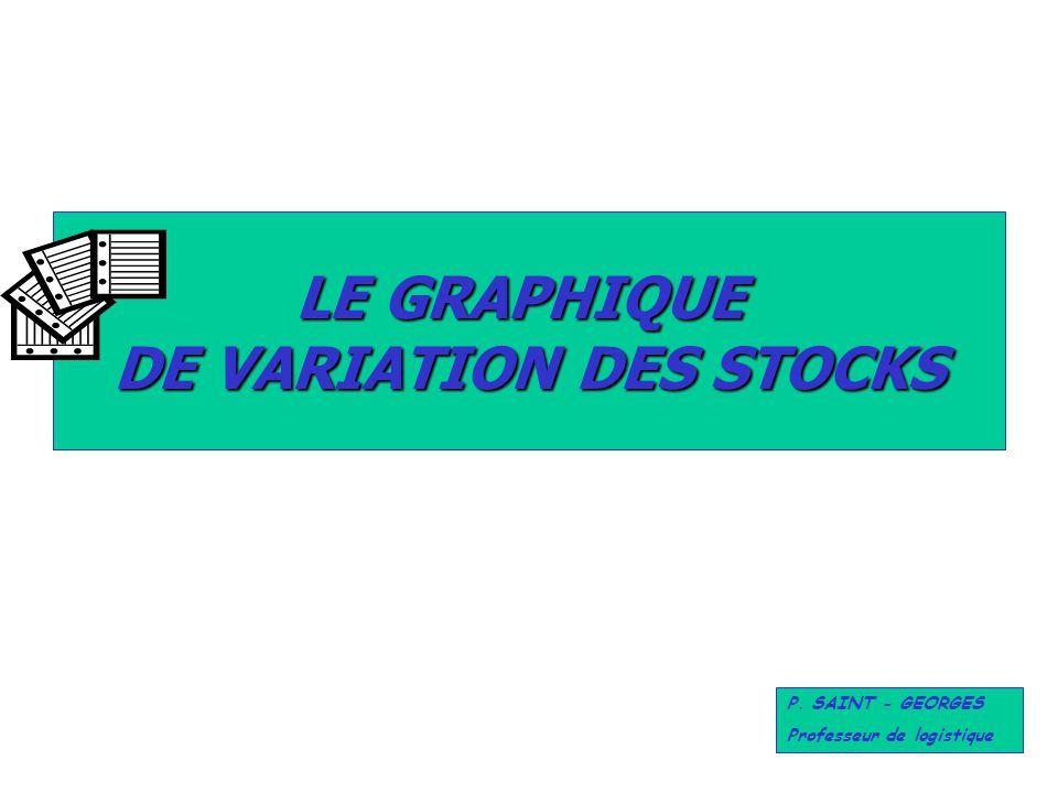 LE GRAPHIQUE DE VARIATION DES STOCKS P. SAINT - GEORGES Professeur de logistique