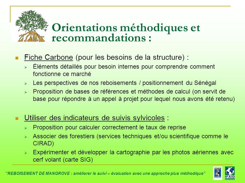 Fiche Carbone (pour les besoins de la structure) :  Éléments détaillés pour besoin internes pour comprendre comment fonctionne ce marché  Les perspe