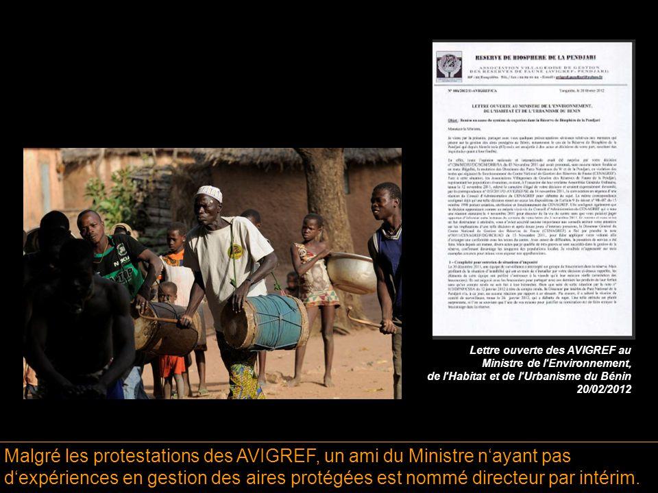 Malgré les protestations des AVIGREF, un ami du Ministre n'ayant pas d'expériences en gestion des aires protégées est nommé directeur par intérim.