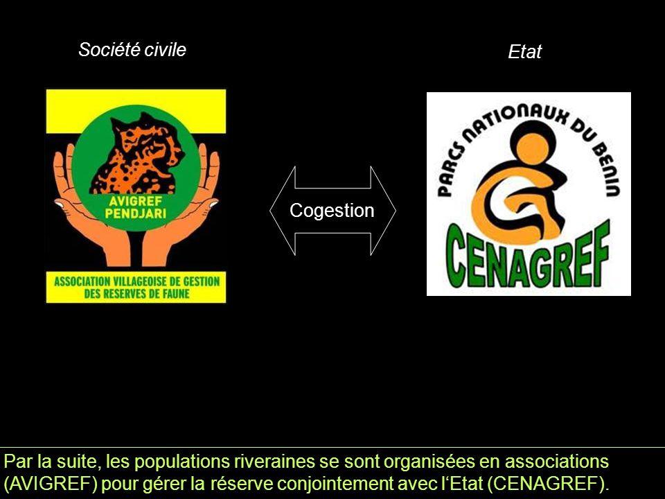 Par la suite, les populations riveraines se sont organisées en associations (AVIGREF) pour gérer la réserve conjointement avec l'Etat (CENAGREF).