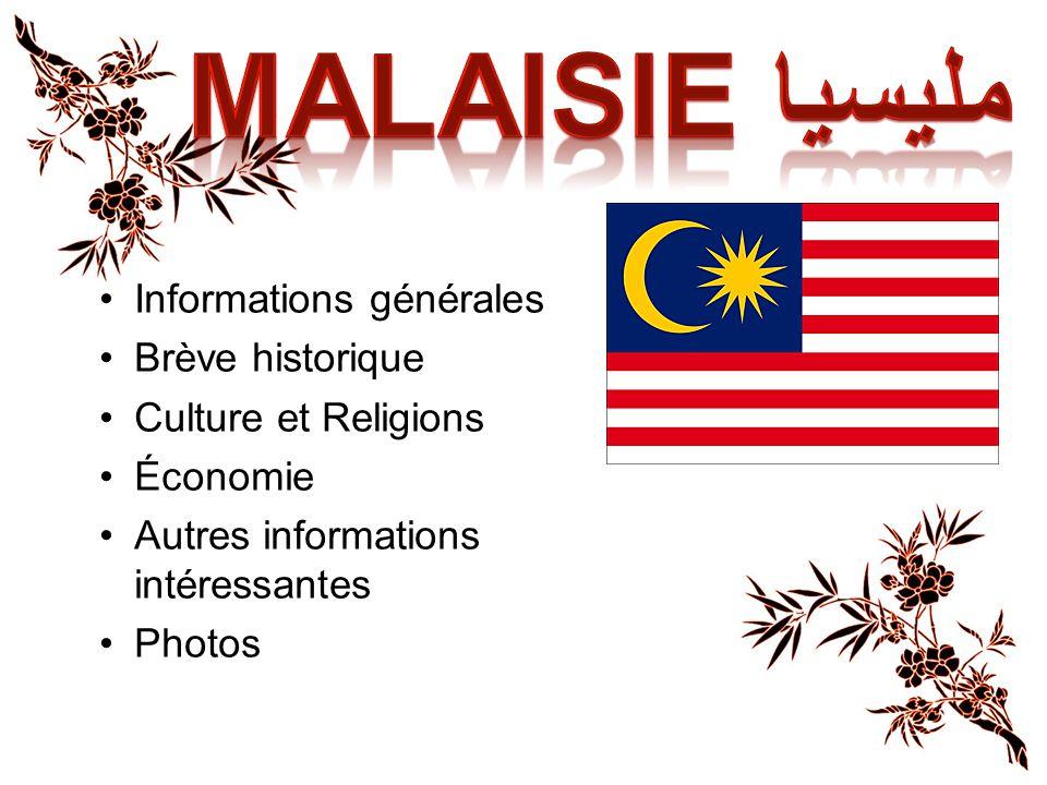 Capitale: Kuala Lumpur Langue principale: Malais Habitants: Malaisien/Malaisienne Population: 26 572 000 hab.