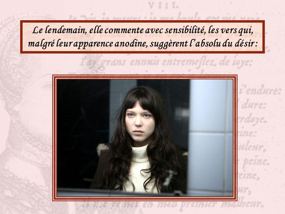 Ludivine a les yeux qui brillent. Sans doute, c'est folie aussi pour elle d'aimer Antoine, un garçon de Terminale, qui ne la regarde même pas...