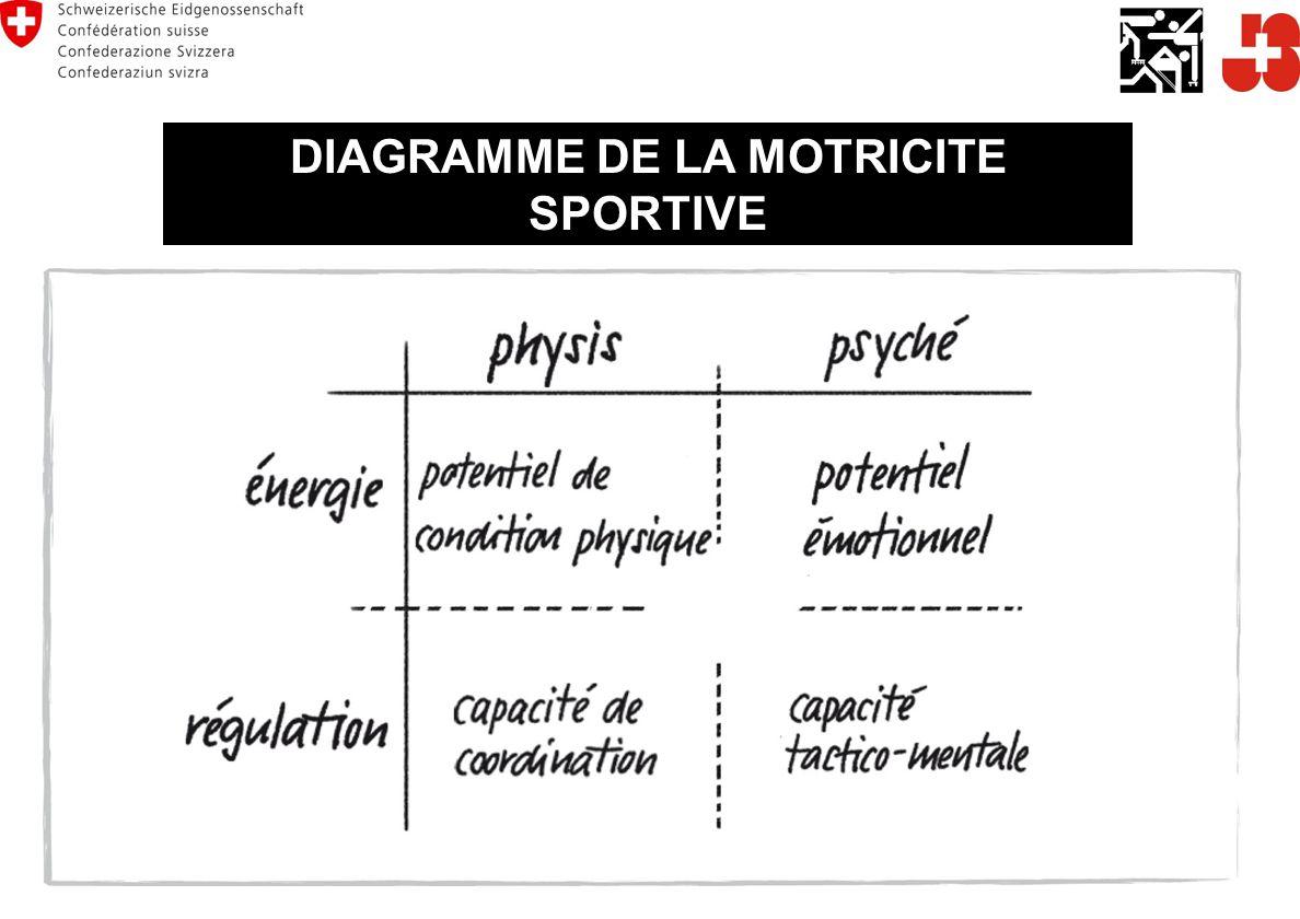 DIAGRAMME DE LA MOTRICITE SPORTIVE