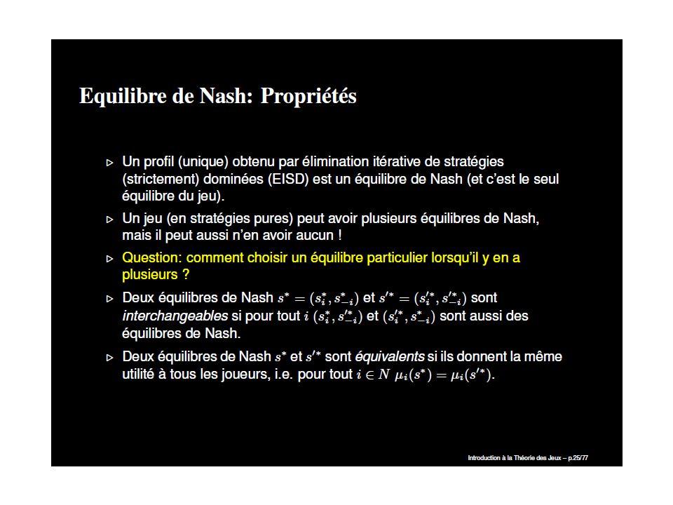 Le théorème du minimax de John von Neumann (parfois appelé théorème fondamental de la théorie des jeux à deux joueurs), démontré en 1928, est un résultat important en théorie des jeux.