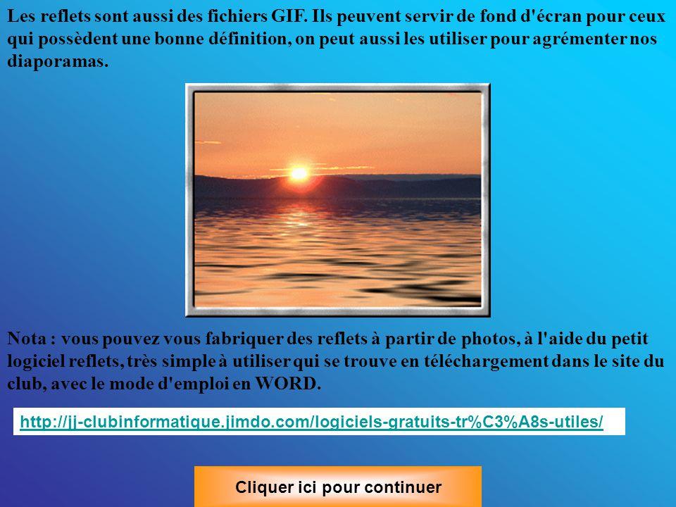 6 -Trouver des fonds scintillants et des reflets Les fonds scintillants sont encore des fichiers GIF.