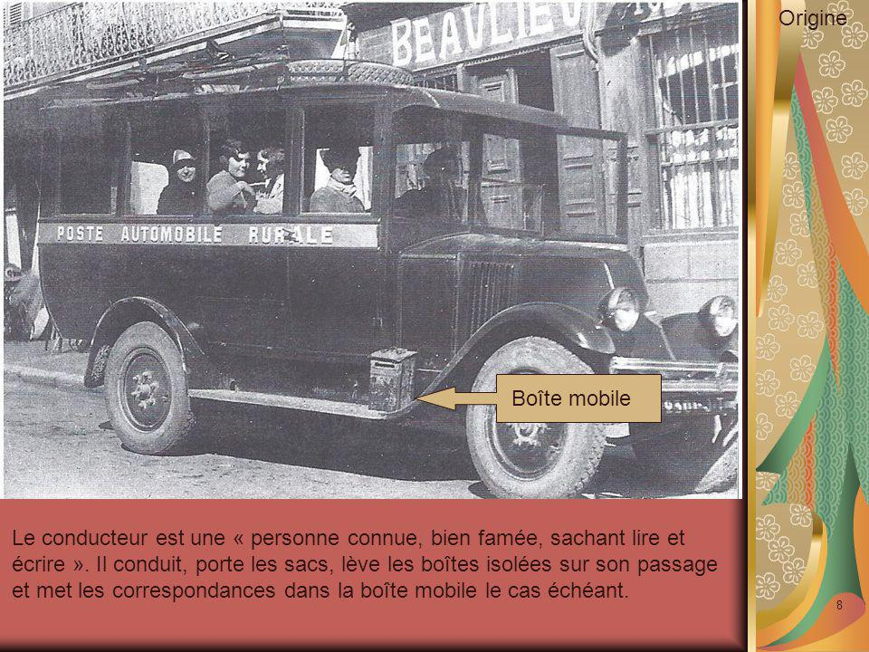 9 Organisation Services postaux Services commerciaux complémentaires Transport de voyageurs Commissions Voitures d'enfants et bicyclettes Bagages accompagnés Colis postaux