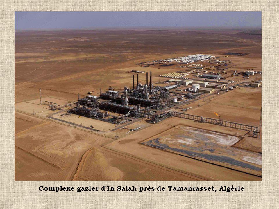 Complexe gazier d'In Salah près de Tamanrasset, Algérie