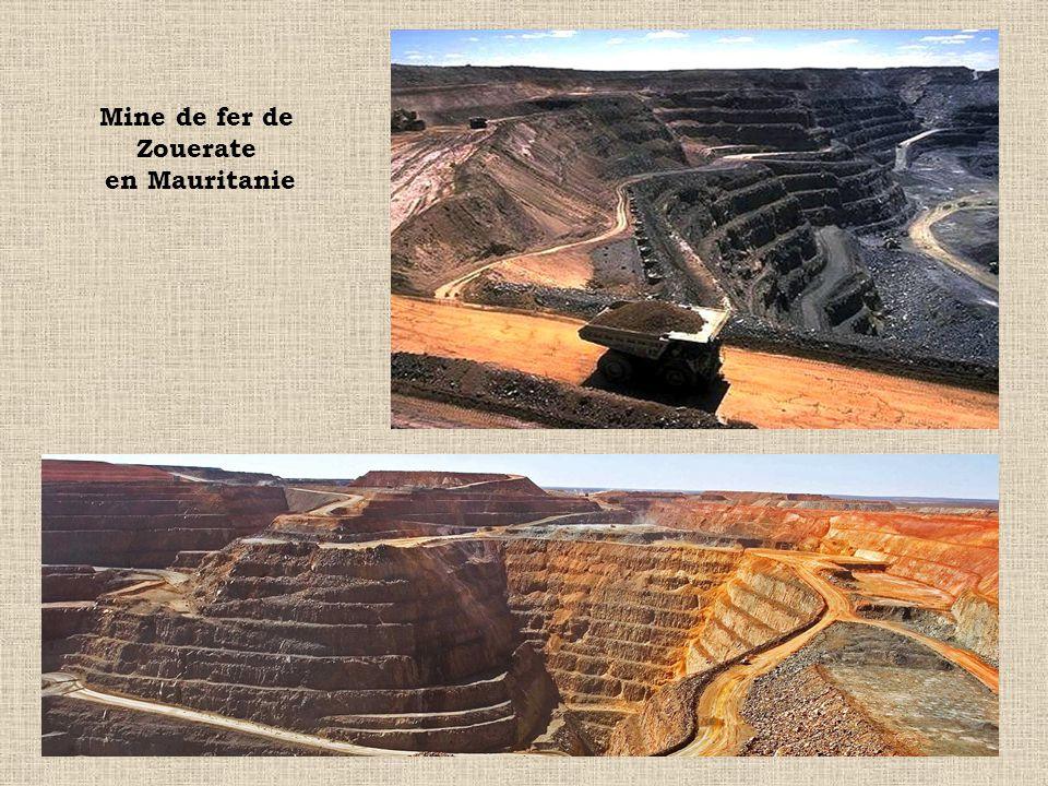 Mine de fer de Zouerate en Mauritanie