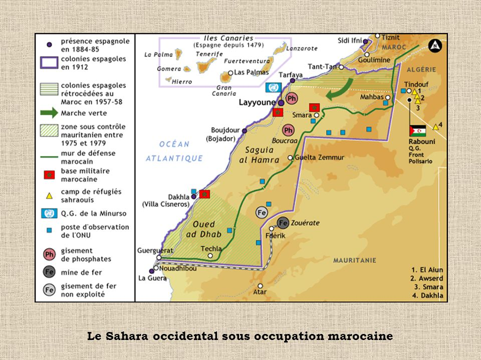 Le Sahara occidental sous occupation marocaine