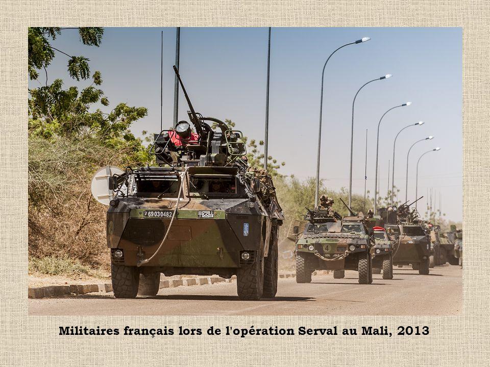 Militaires français lors de l'opération Serval au Mali, 2013
