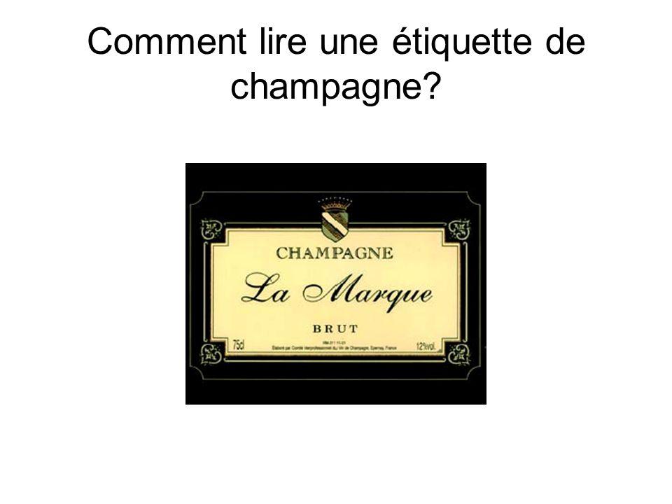 Comment lire une étiquette de champagne?