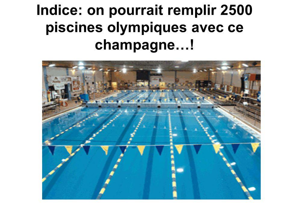 Indice: on pourrait remplir 2500 piscines olympiques avec ce champagne…!