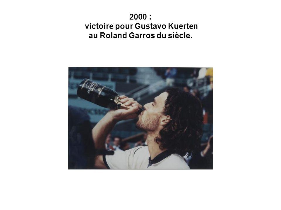 2000 : victoire pour Gustavo Kuerten au Roland Garros du siècle.