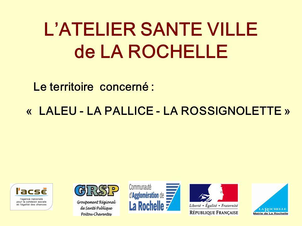 L'ATELIER SANTE VILLE de LA ROCHELLE Le territoire concerné : « LALEU - LA PALLICE - LA ROSSIGNOLETTE »