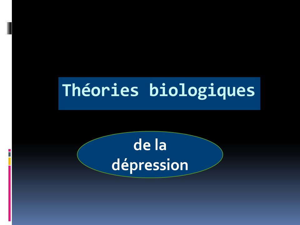 La théorie monoaminergique est la 1ère théorie majeure de la dépression La raison principale pour laquelle psychiatres, neurochimistes et pharmacologues ce sont intéressés au rôle des monoamines cérébrales dans la dépression est d'abord historique.
