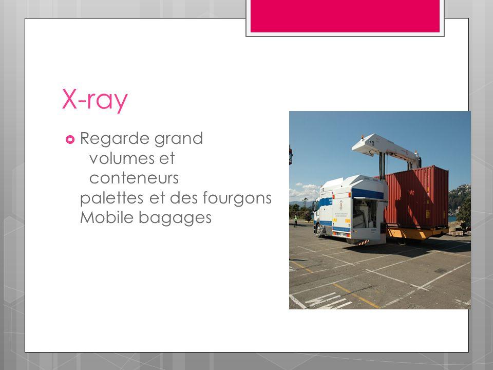 X-ray  Regarde grand volumes et conteneurs palettes et des fourgons Mobile bagages