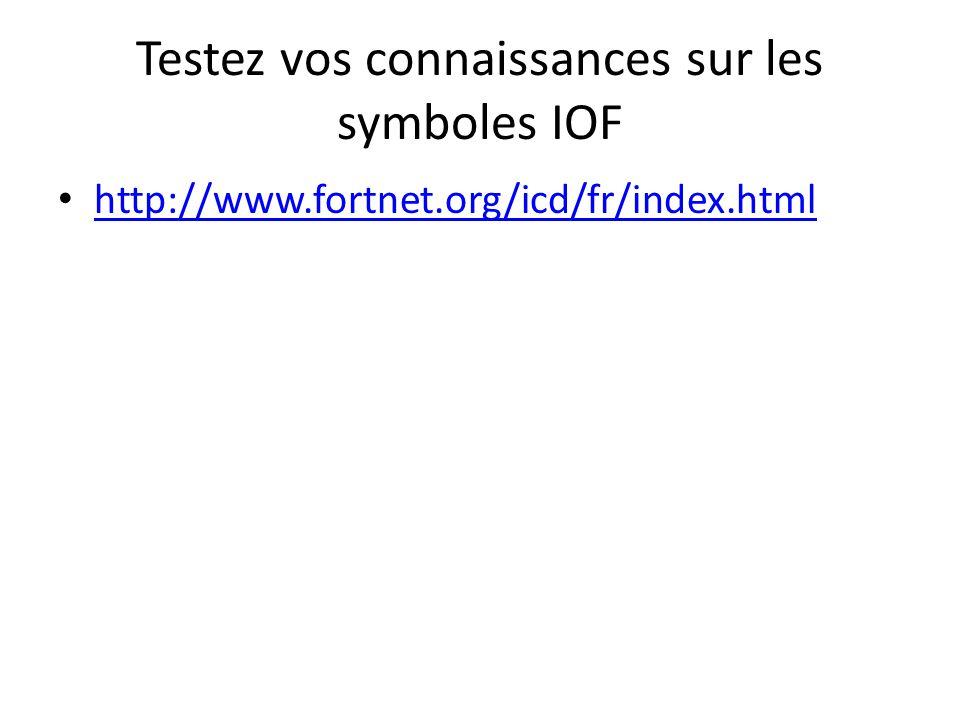 Testez vos connaissances sur les symboles IOF http://www.fortnet.org/icd/fr/index.html