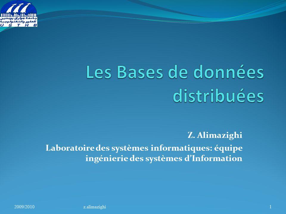 2009/2010z.alimazighi2 Chapitre 1 : Les concepts fondamentaux 1.Introduction 2.