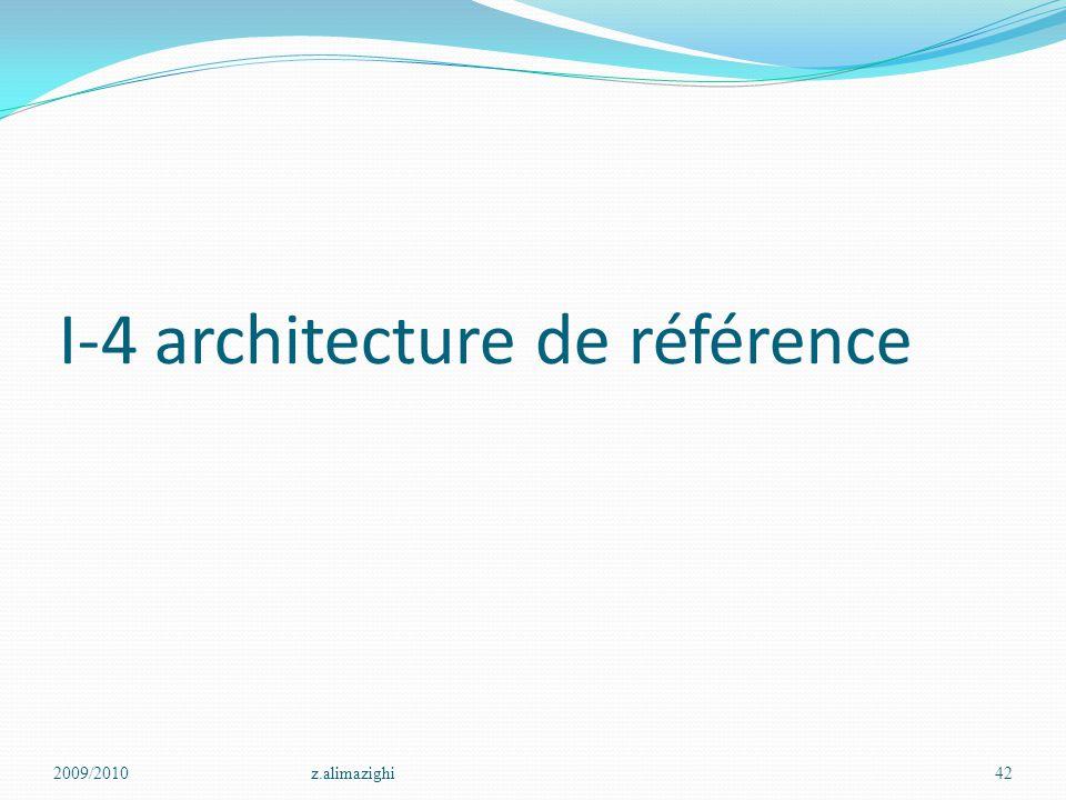 I-4 architecture de référence 2009/2010z.alimazighi42