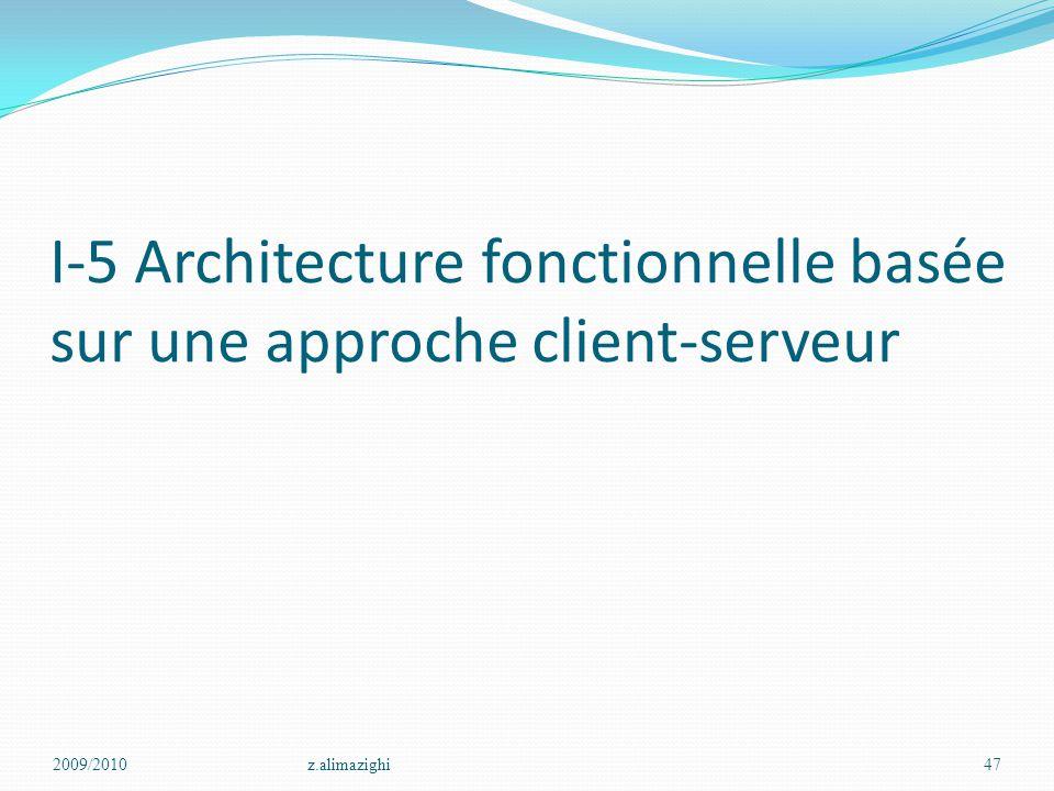I-5 Architecture fonctionnelle basée sur une approche client-serveur 2009/2010z.alimazighi47