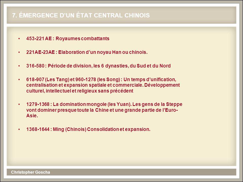 Christopher Goscha 8. LA FORMATION DE L'ÉTAT CHINOIS