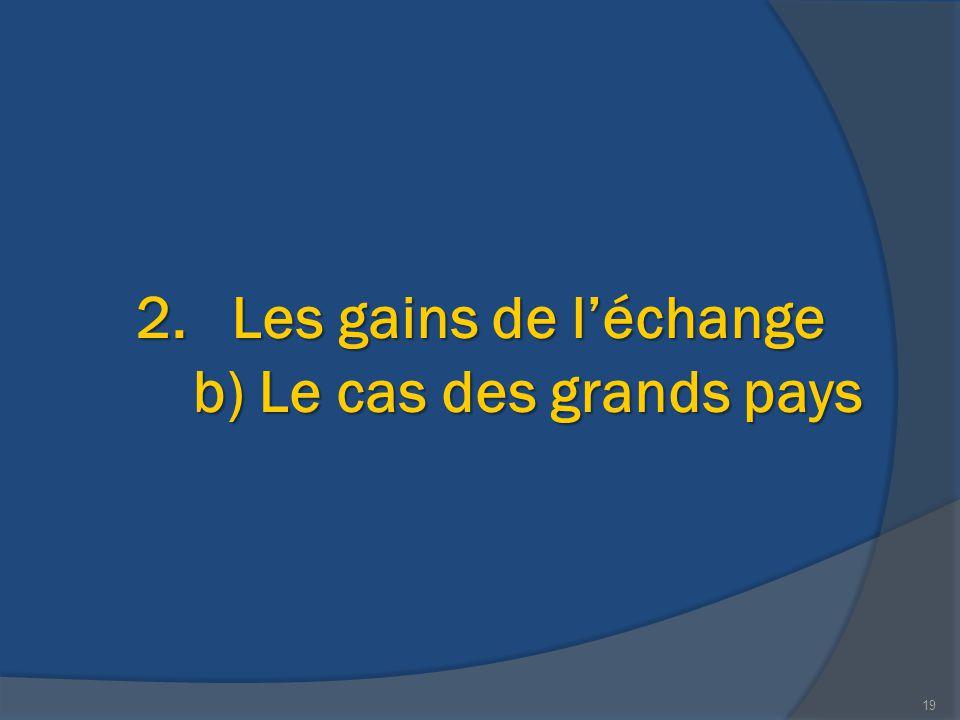 2.Les gains de l'échange b) Le cas des grands pays 19