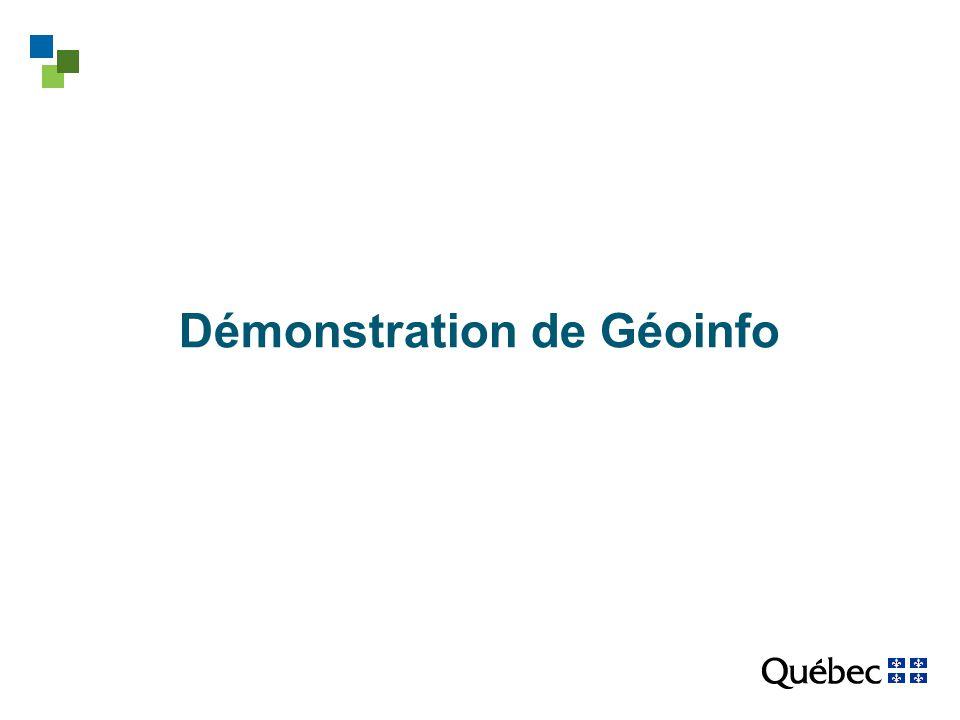 Démonstration de Géoinfo